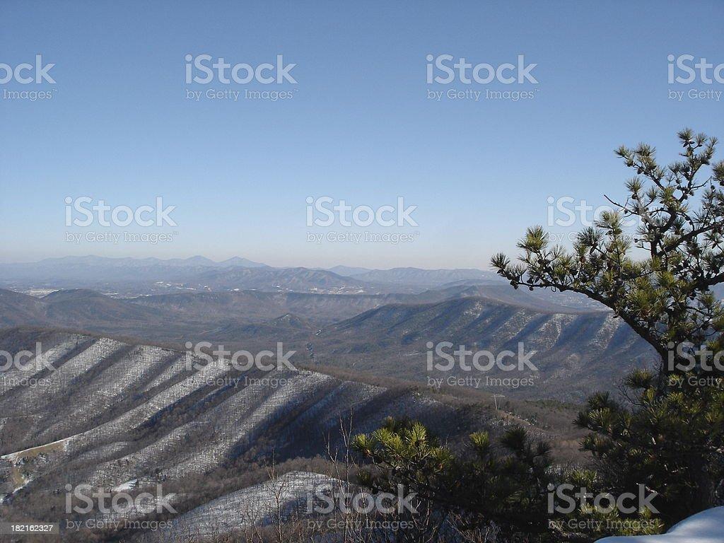 Snowy mountains. royalty-free stock photo