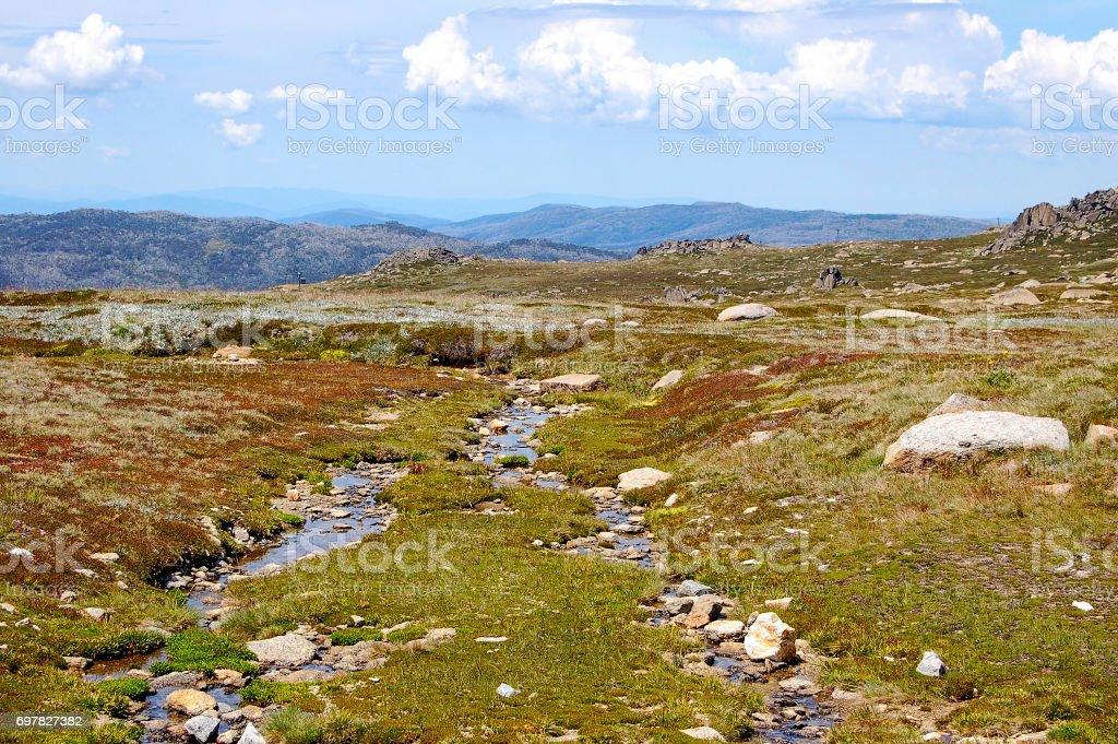 Snowy Mountains Plateau - Thredbo stock photo