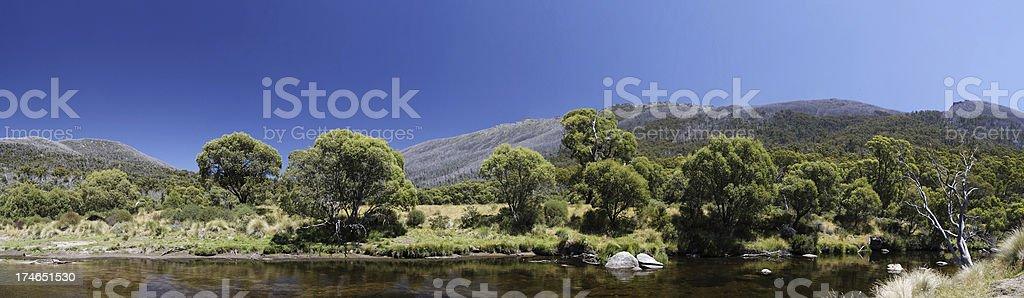 Snowy Mountains scenery stock photo