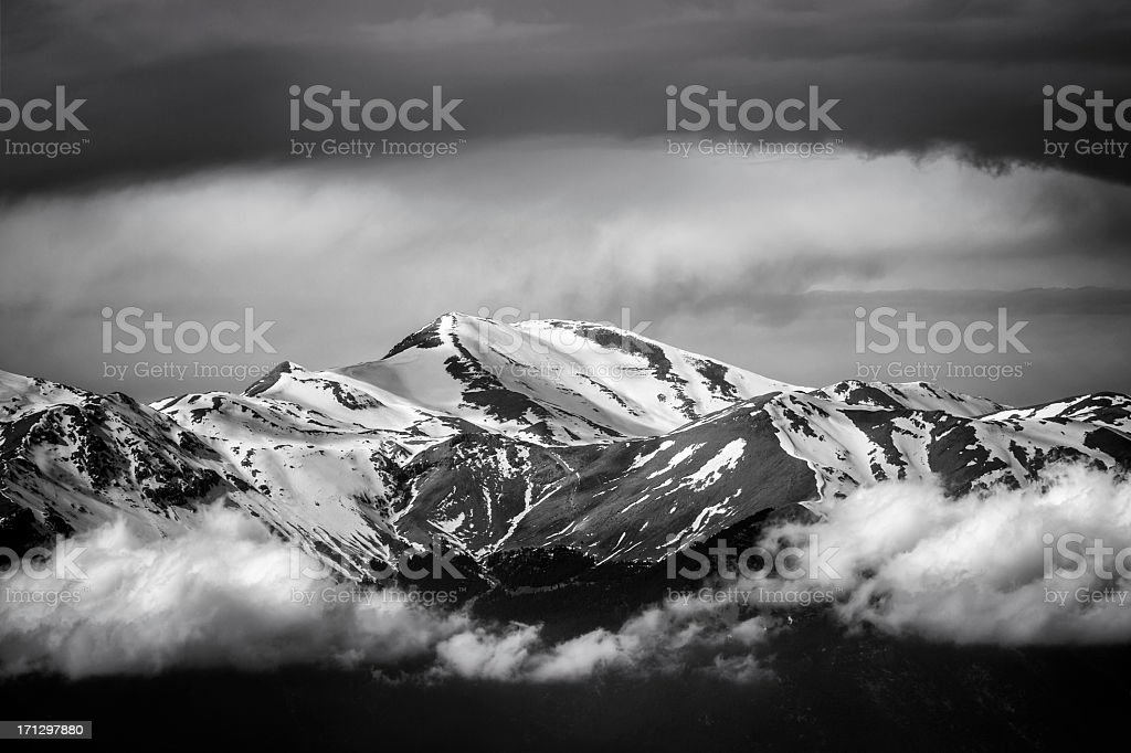 Snowy Mountains summit royalty-free stock photo