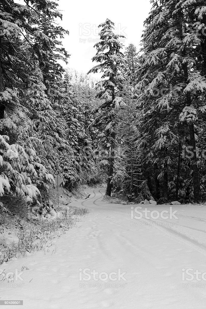 Snowy Passage stock photo