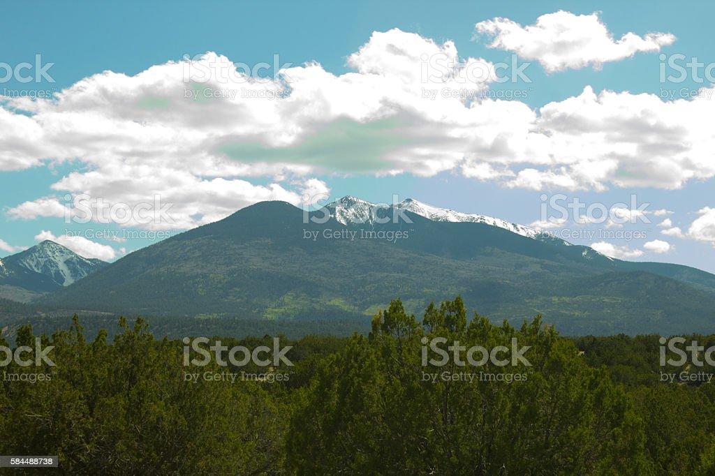 Snowy Peak stock photo