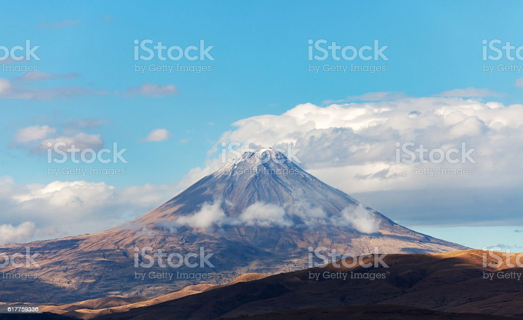 Snowy peaks of large and small Ararat, Turkey stock photo