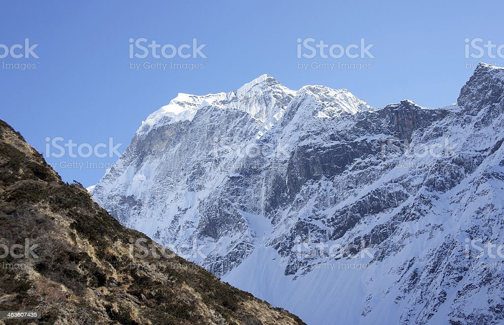 Snowy peaks of the Himalayas royalty-free stock photo