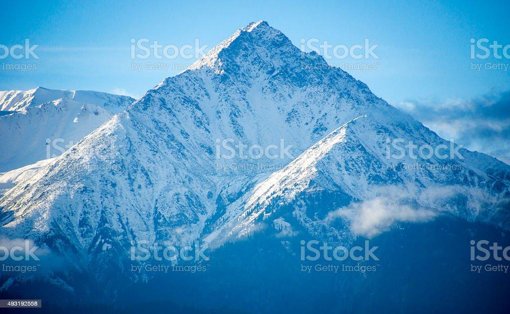 Snowy peaks of the Tien Shan stock photo
