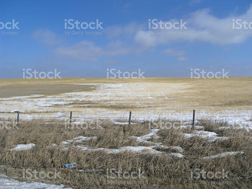 Snowy Prairie royalty-free stock photo