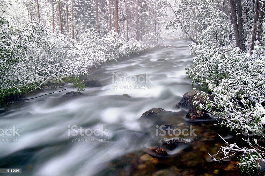 Snowy rivière photo libre de droits