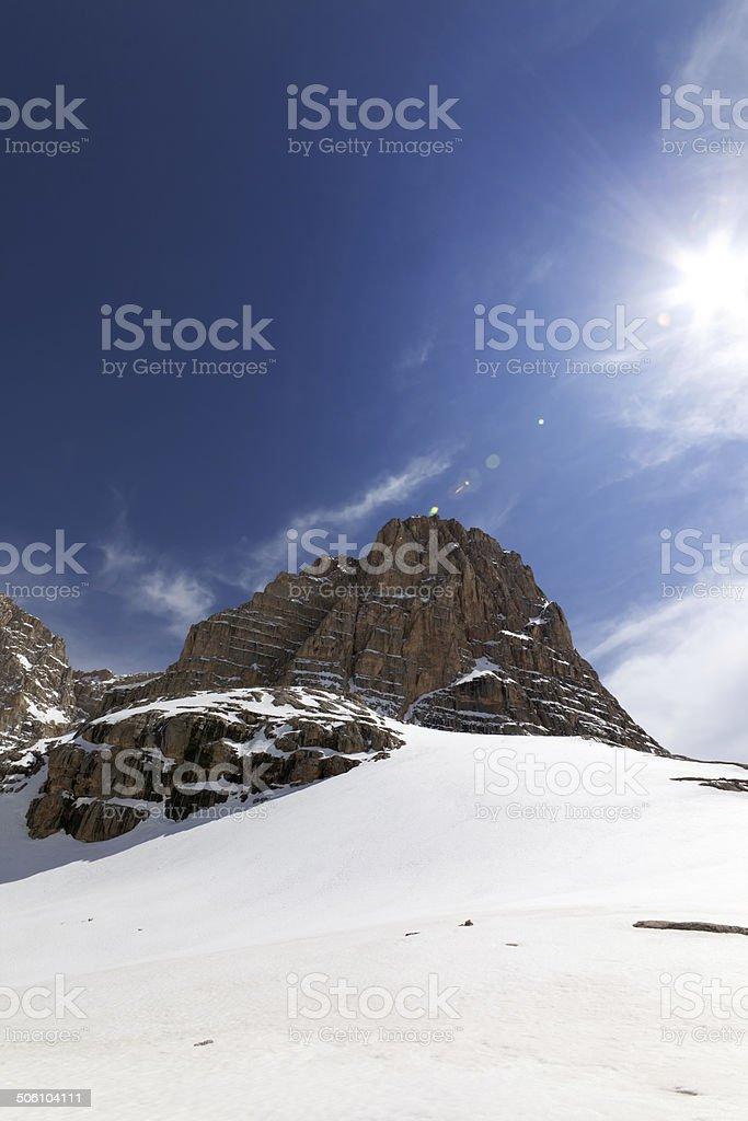 Snowy rocks at nice day royalty-free stock photo