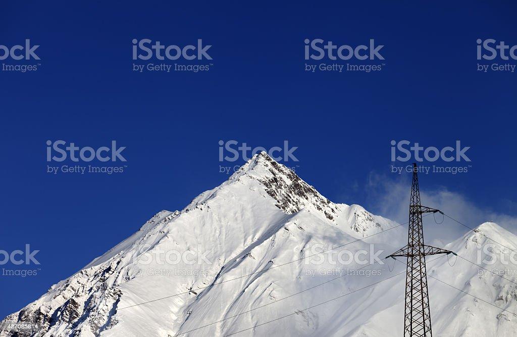 Snowy rocks stock photo