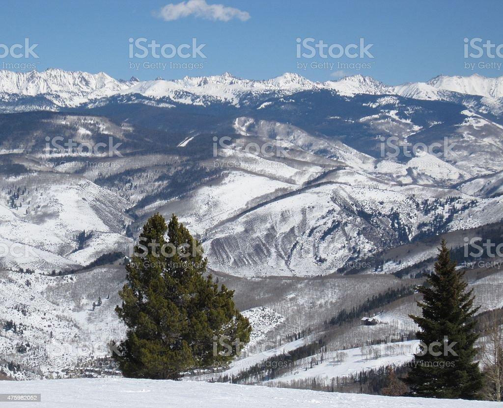 Snowy Rocky Mountains stock photo