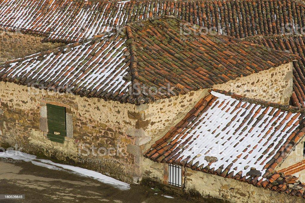 Snowy Rooftops - Tejados Nevados royalty-free stock photo