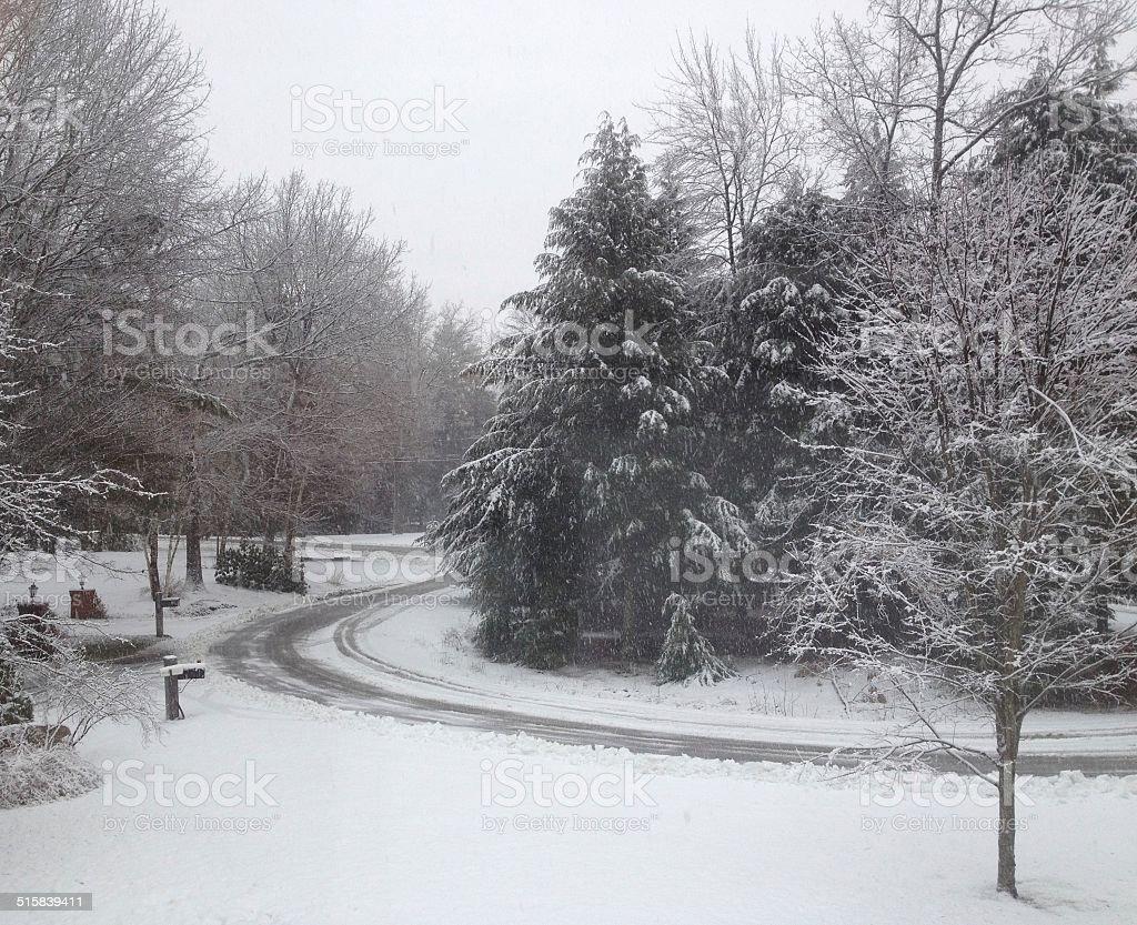 snowy scene royalty-free stock photo