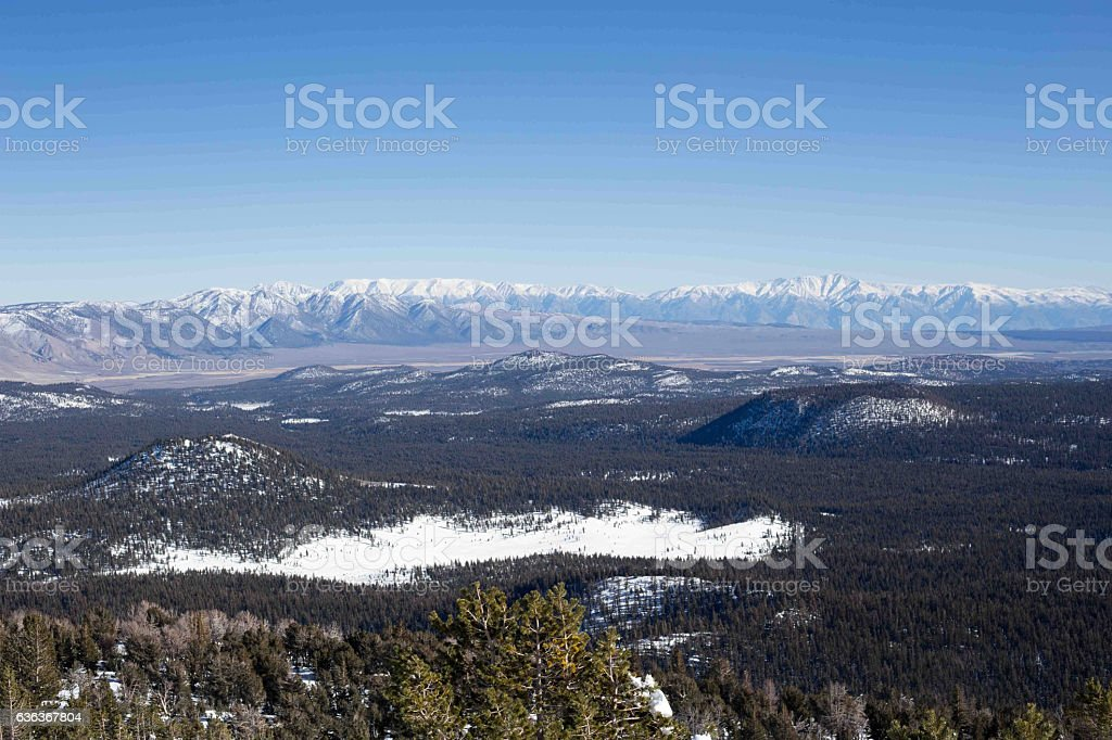 Snowy Scenic View stock photo