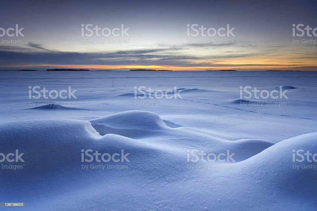 Snowy seascape royalty-free stock photo