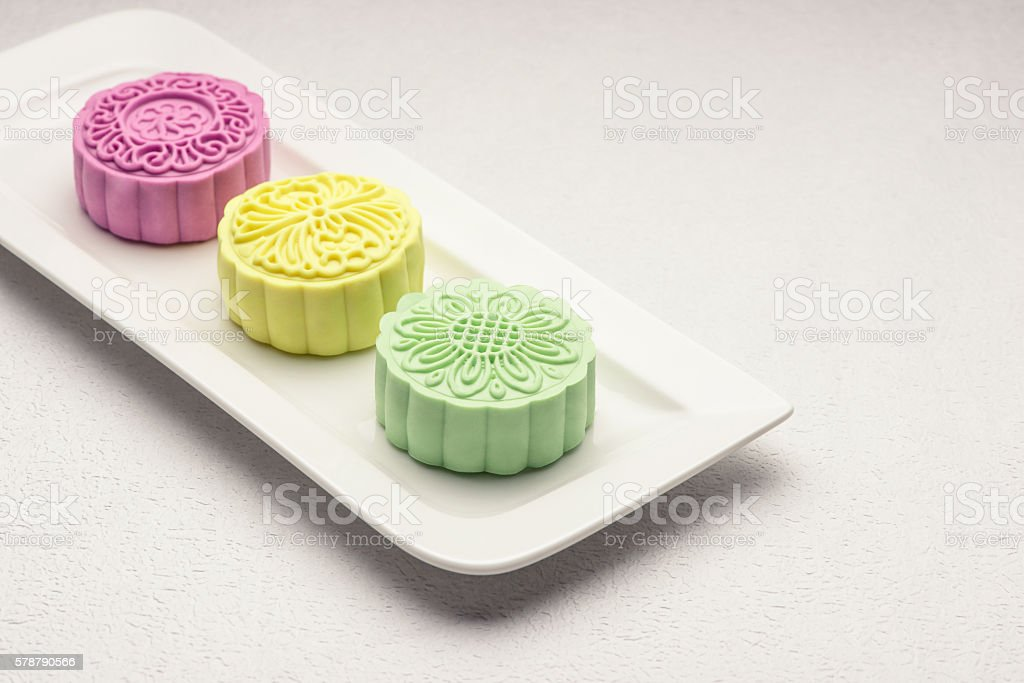 Snowy skin mooncakes. stock photo