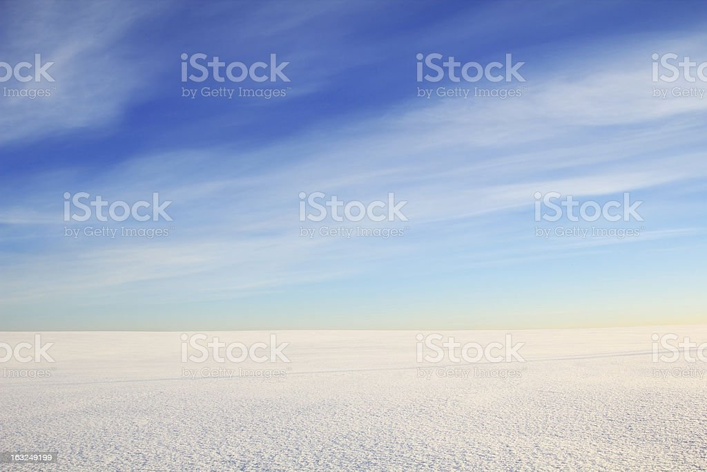snowy space royalty-free stock photo