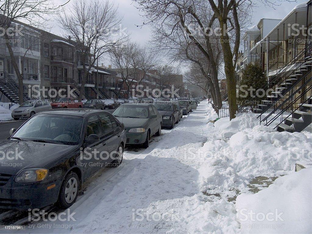 Snowy Street royalty-free stock photo