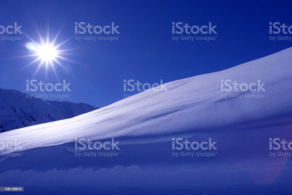 Snowy Sunrise stock photo