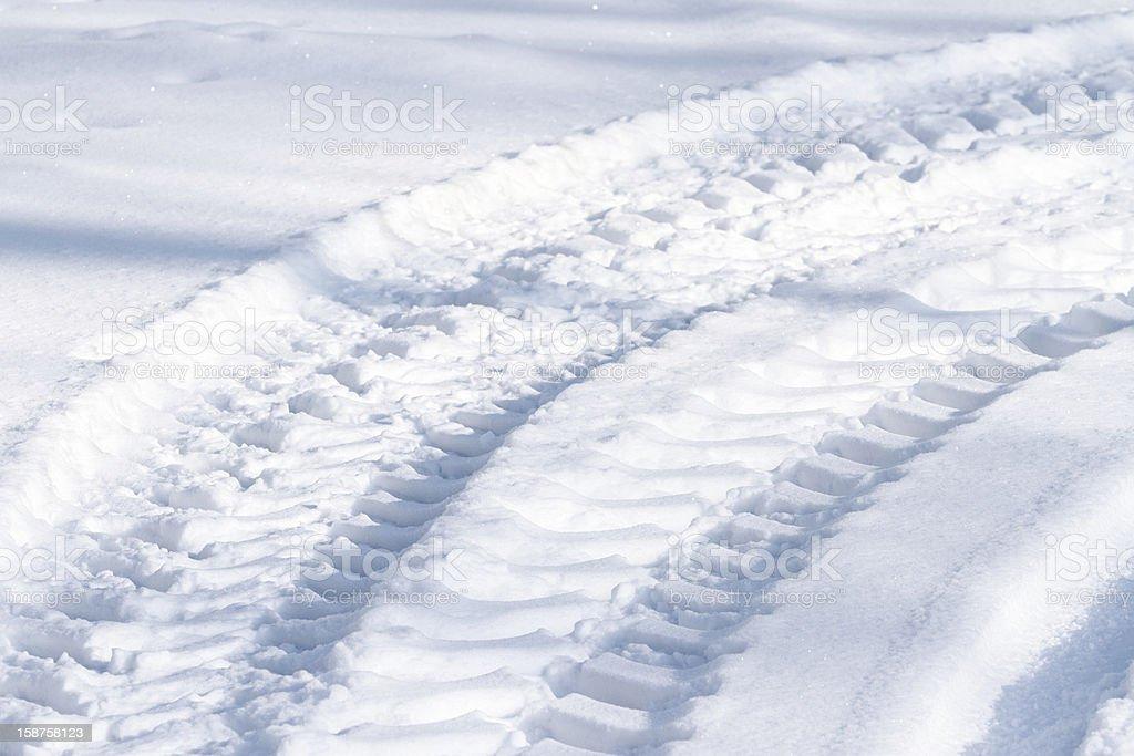 Snowy tracks royalty-free stock photo