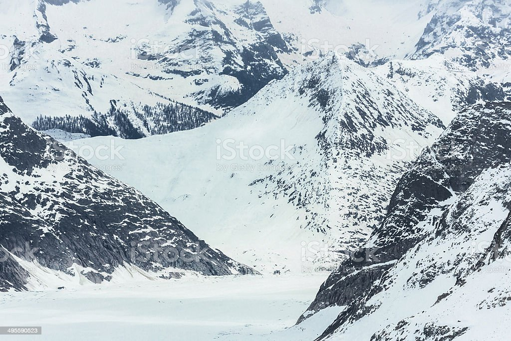 Snowy Valley in Jungfraujoch royalty-free stock photo