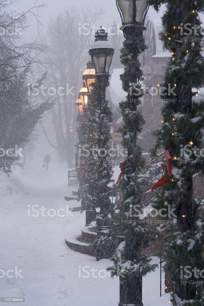 snowy walk royalty-free stock photo