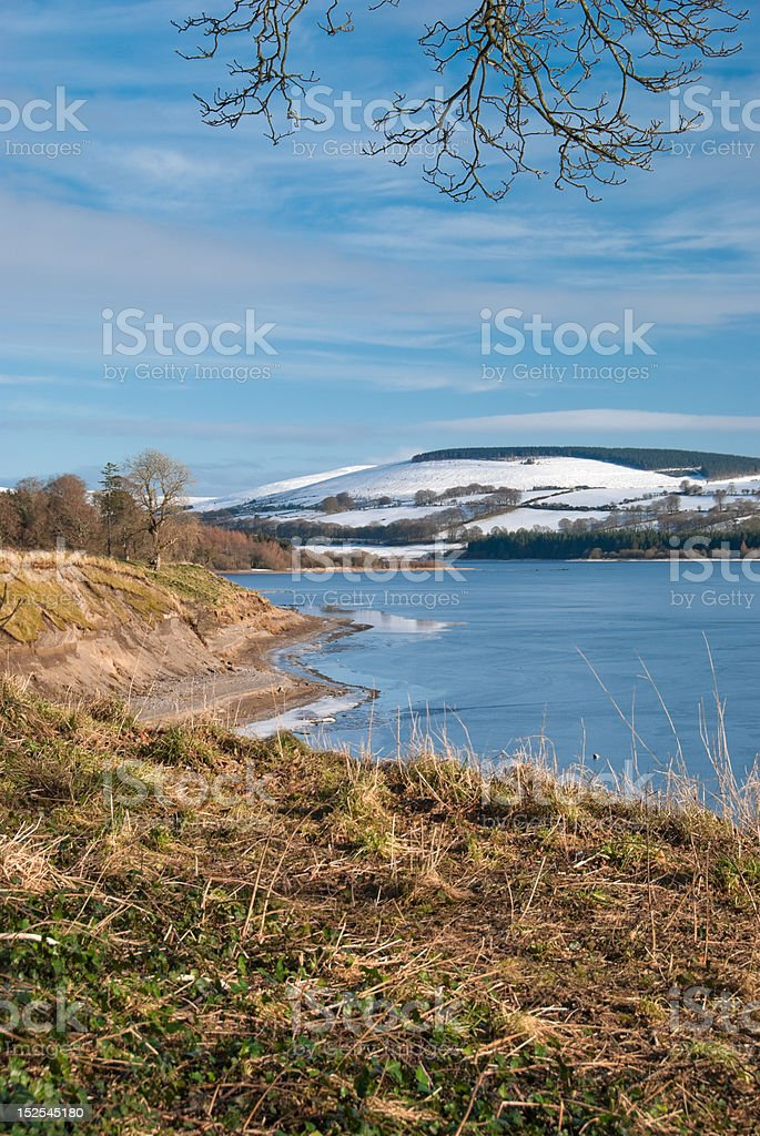 Snowy Wicklow Mountains royalty-free stock photo