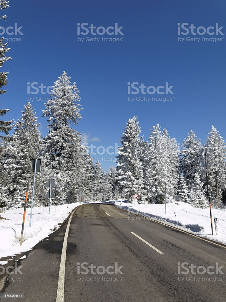 snowy winter landscape in Black Forest royalty-free stock photo