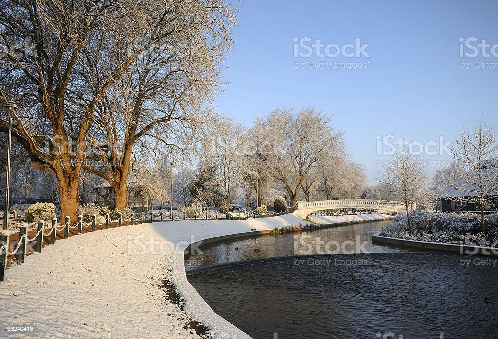 Snowy Winter Scene royalty-free stock photo