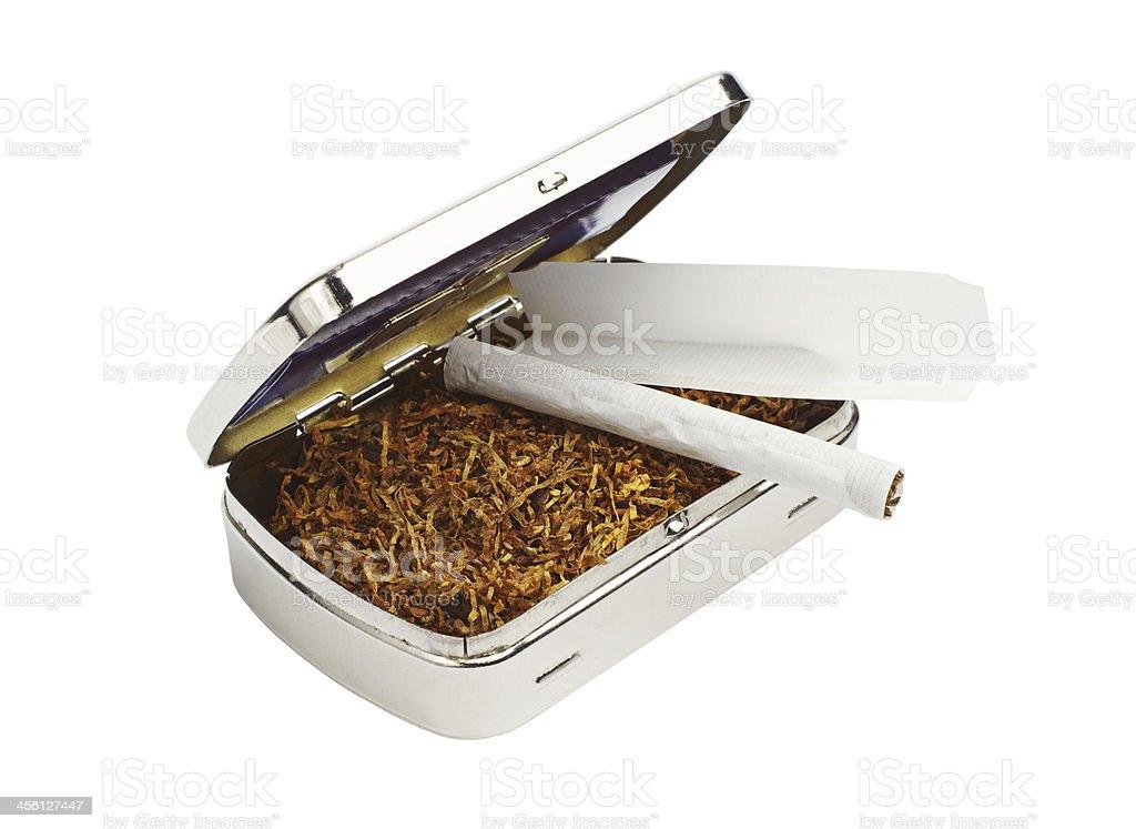 Snuffbox, tabaco y los cigarrillos foto de stock libre de derechos
