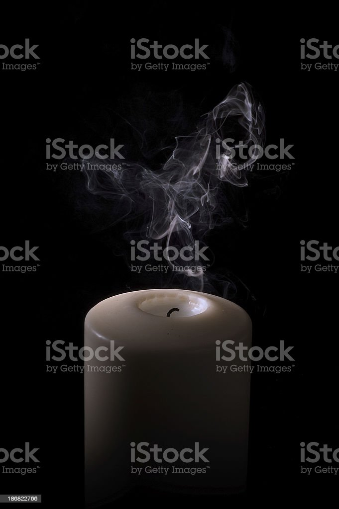 Snuffed Candle stock photo