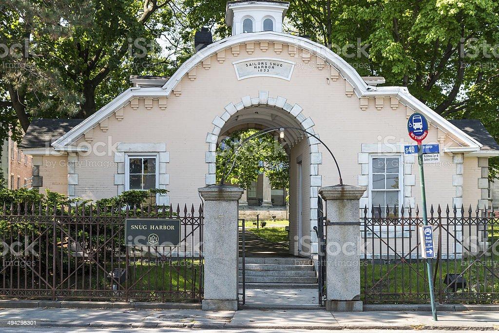 Snug Harbor North Gate - Staten Island, New York City stock photo