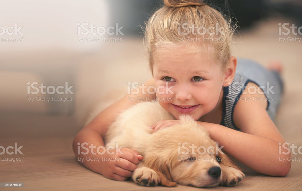 Snuggles and cuddles stock photo