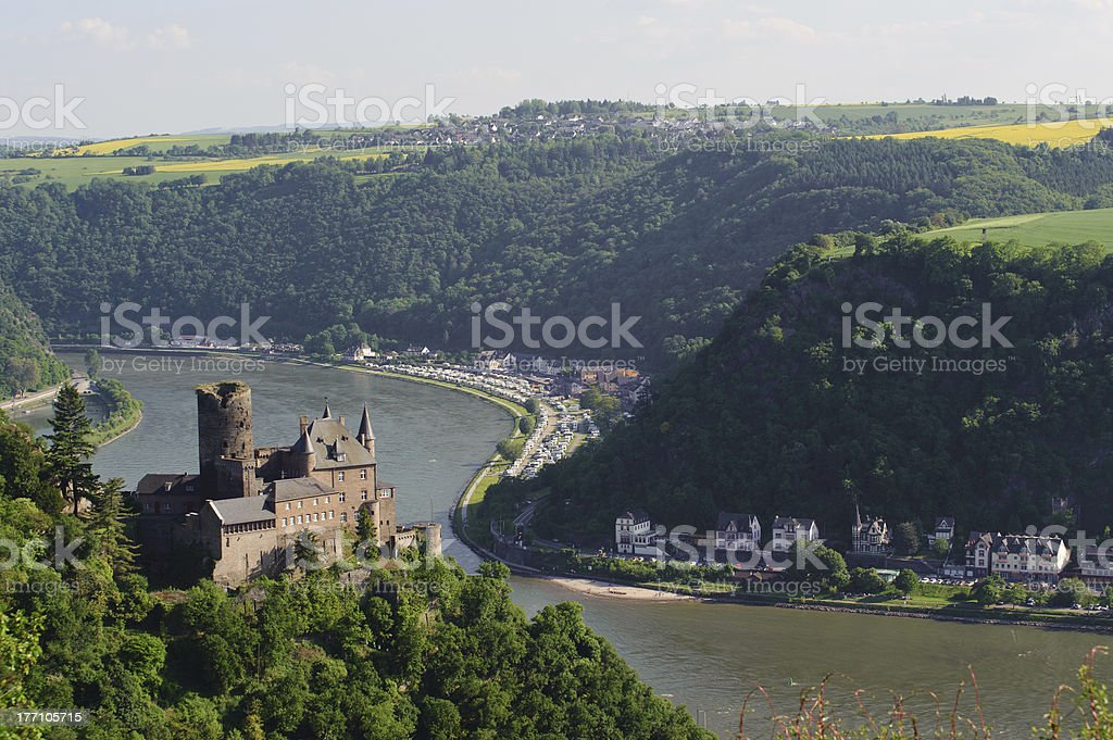 So called castle Katz in Germany stock photo