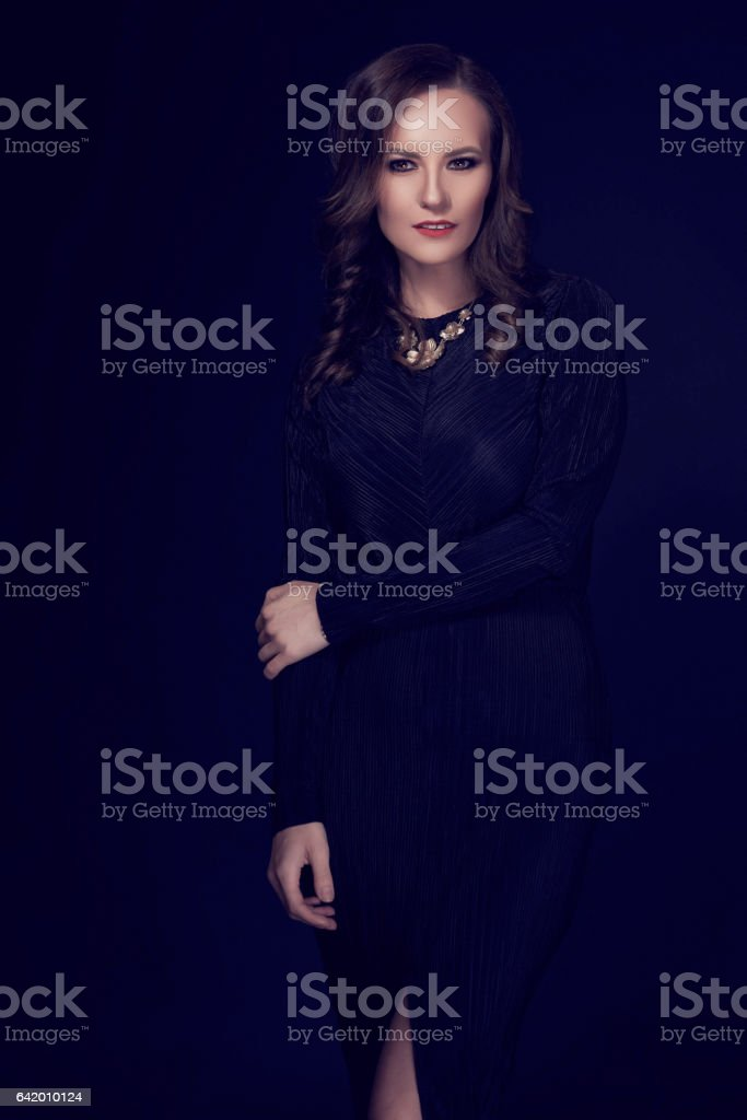 so elegant and attractive woman stock photo