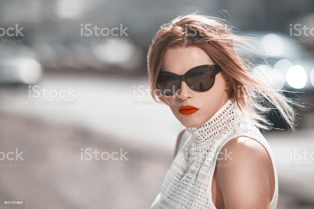 so fashionable look stock photo