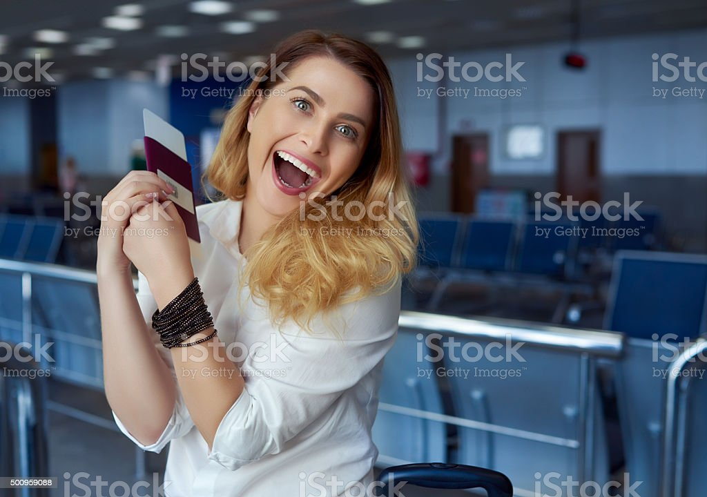 so glad for this trip stock photo