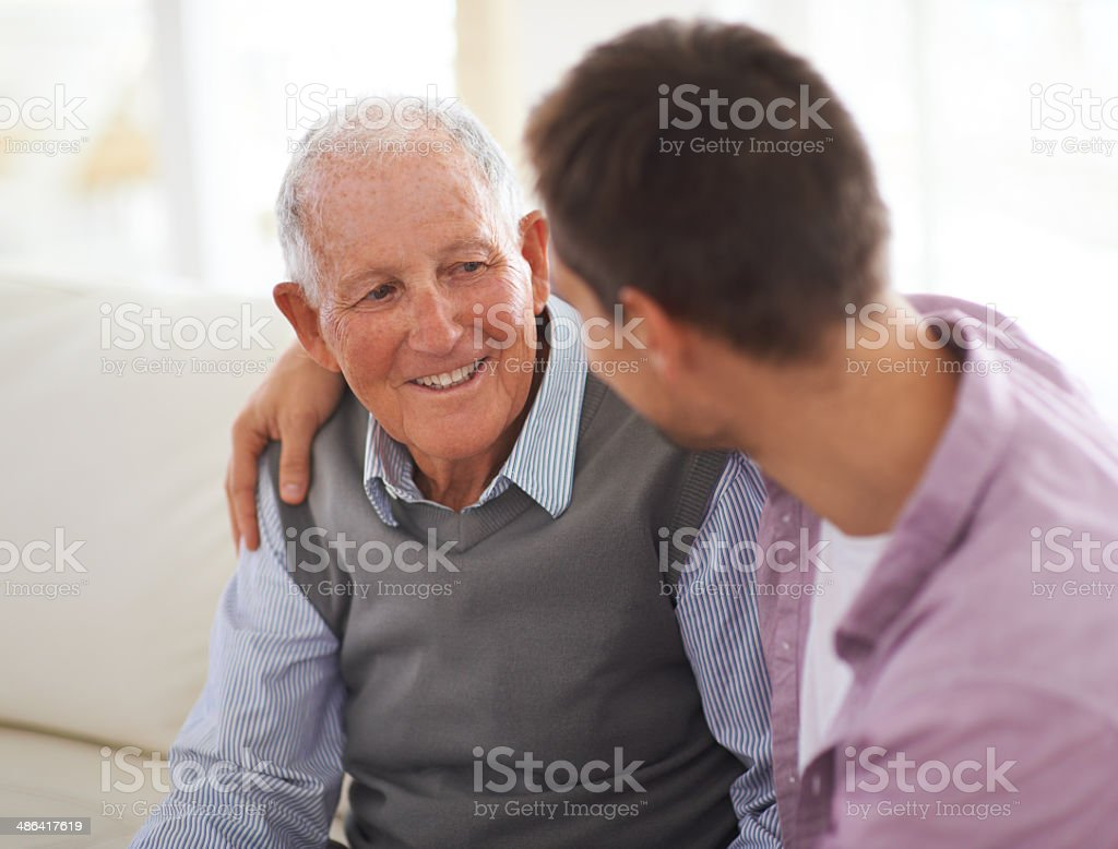 So grateful for his wisdom stock photo