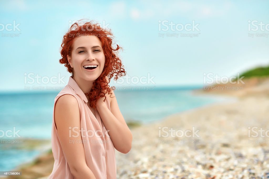 so happy and relaxed this summer stock photo