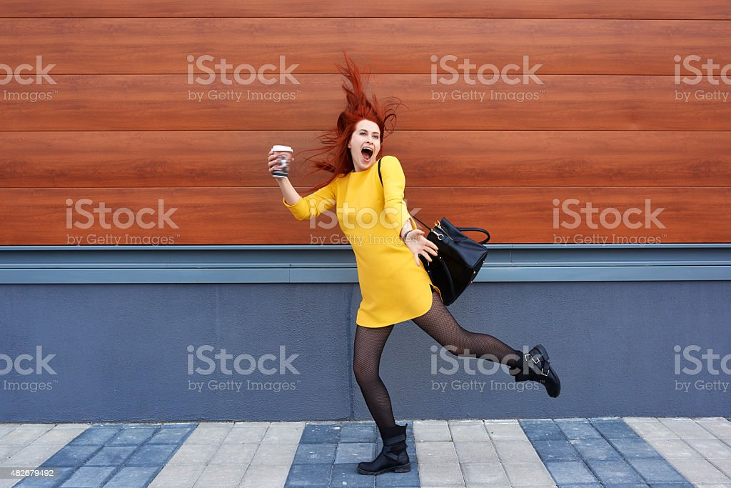 so happy in this moment stock photo