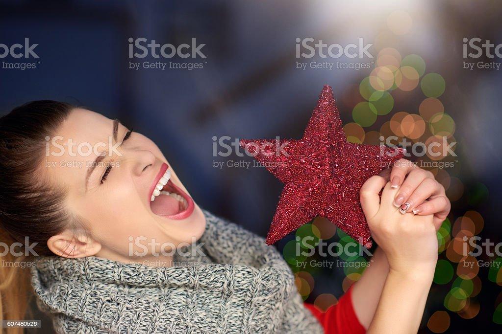 so happy this Christmas stock photo