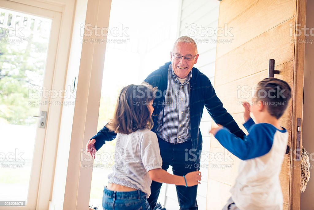 So happy to see you after long time stock photo