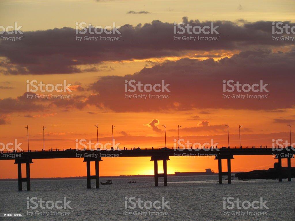 São Luís Sunset stock photo