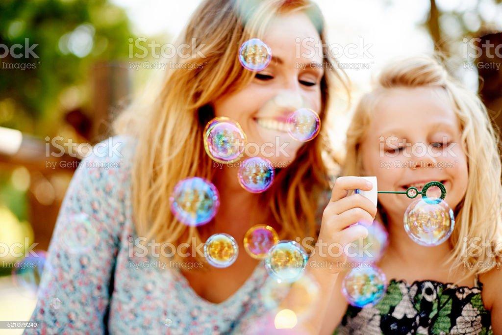 So many bubbles! stock photo