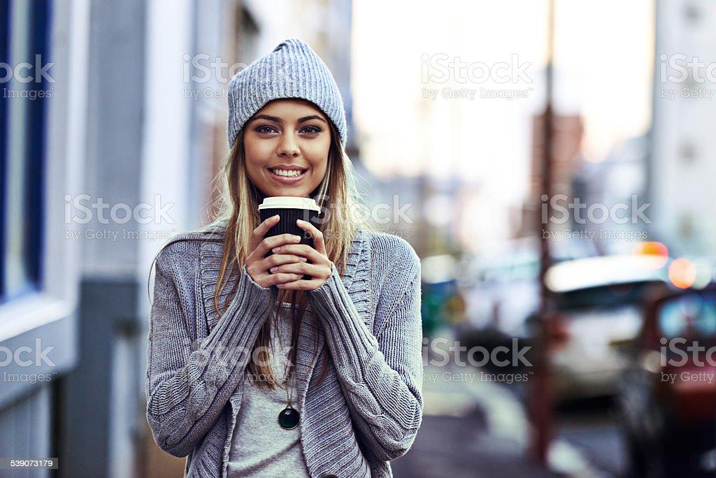 So many coffee hotspots in the city stock photo