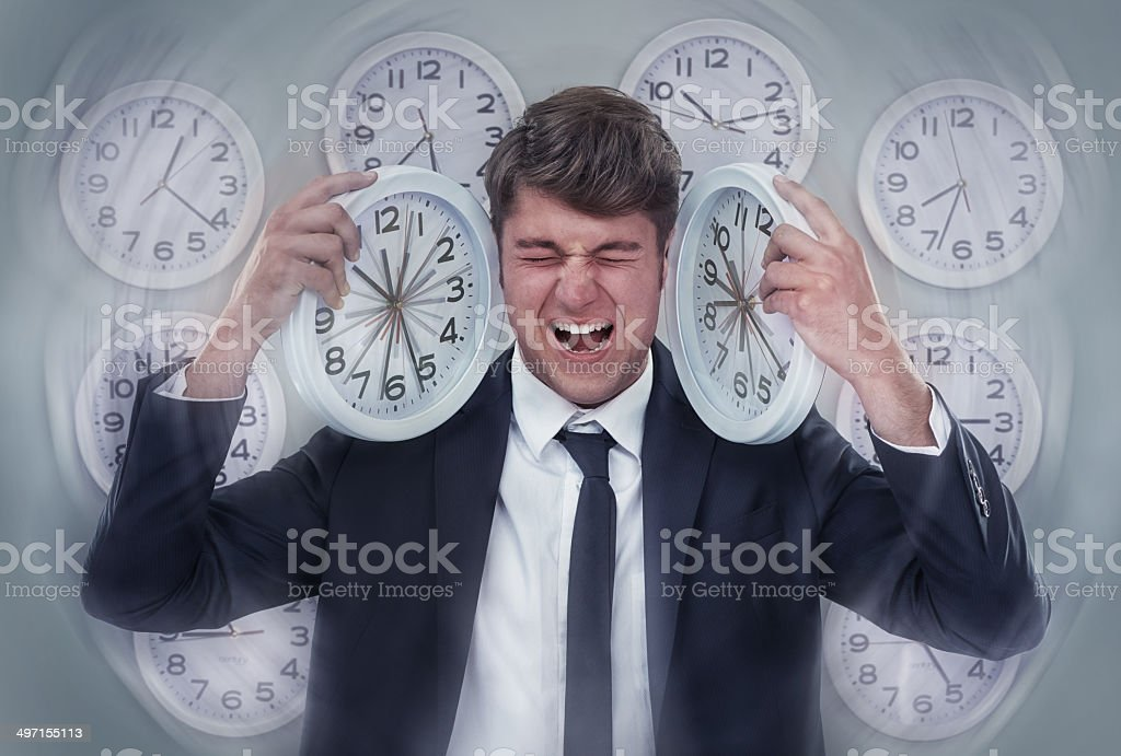 So many deadlines and not enough time! stock photo