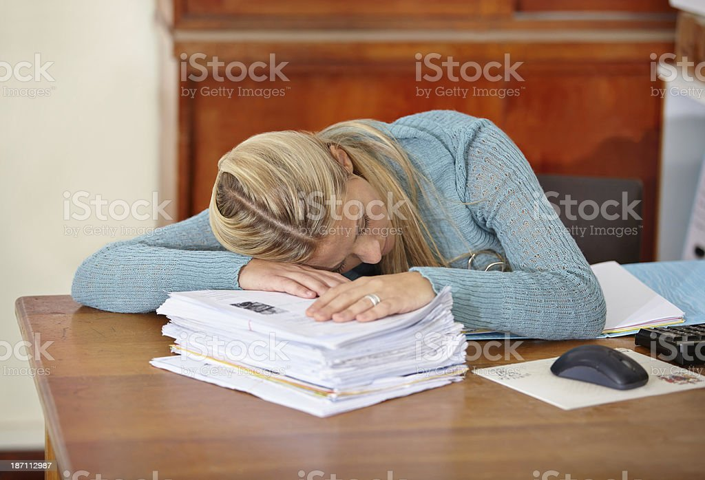 So many papers to mark! royalty-free stock photo