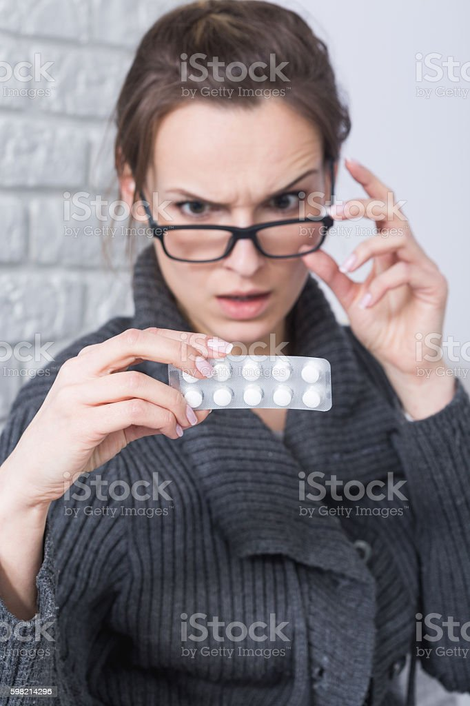 So many side effects... stock photo