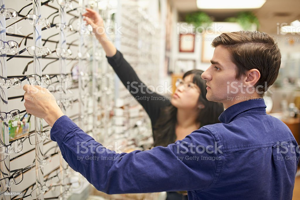 So many stylish glasses to choose from stock photo