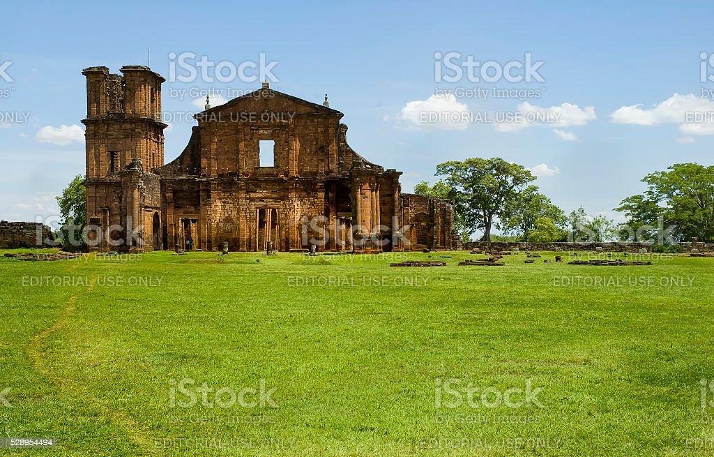 São Miguel das Missões stock photo