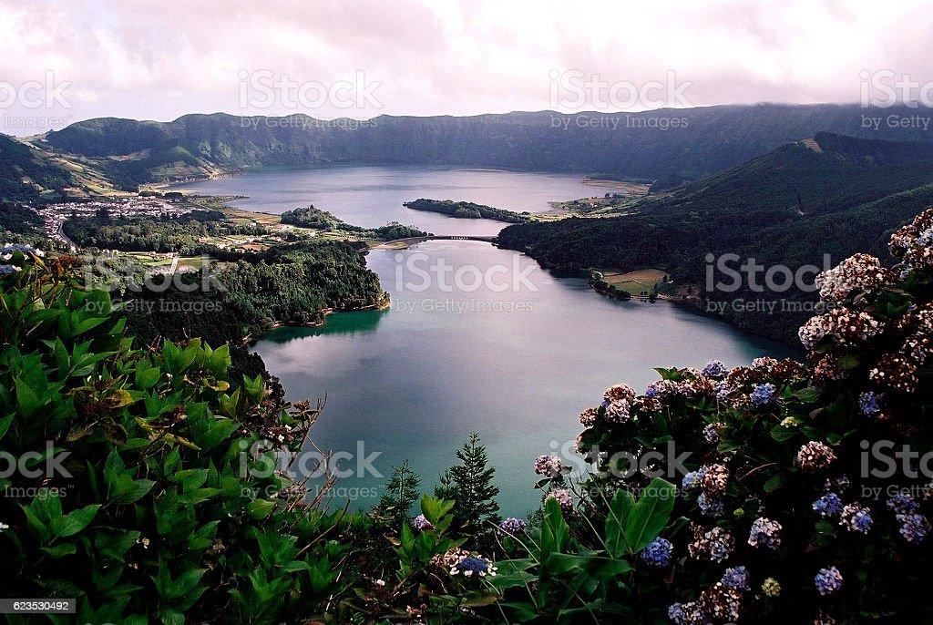 São Miguel Island - Lagoa das Sete Cidades stock photo